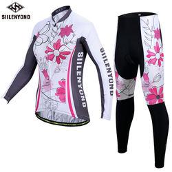 Women's Shirts Uv Protection Long Sleeves Mtb Bicycle Jerseys kits Cycle Clothes Wholesale Cycling Clothing Wear Set
