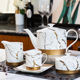 Tea Set Towin Wholesale Exquisite Luxury Tea Time Gold Marble Custom Ceramic Coffee Tea Set For Hotel