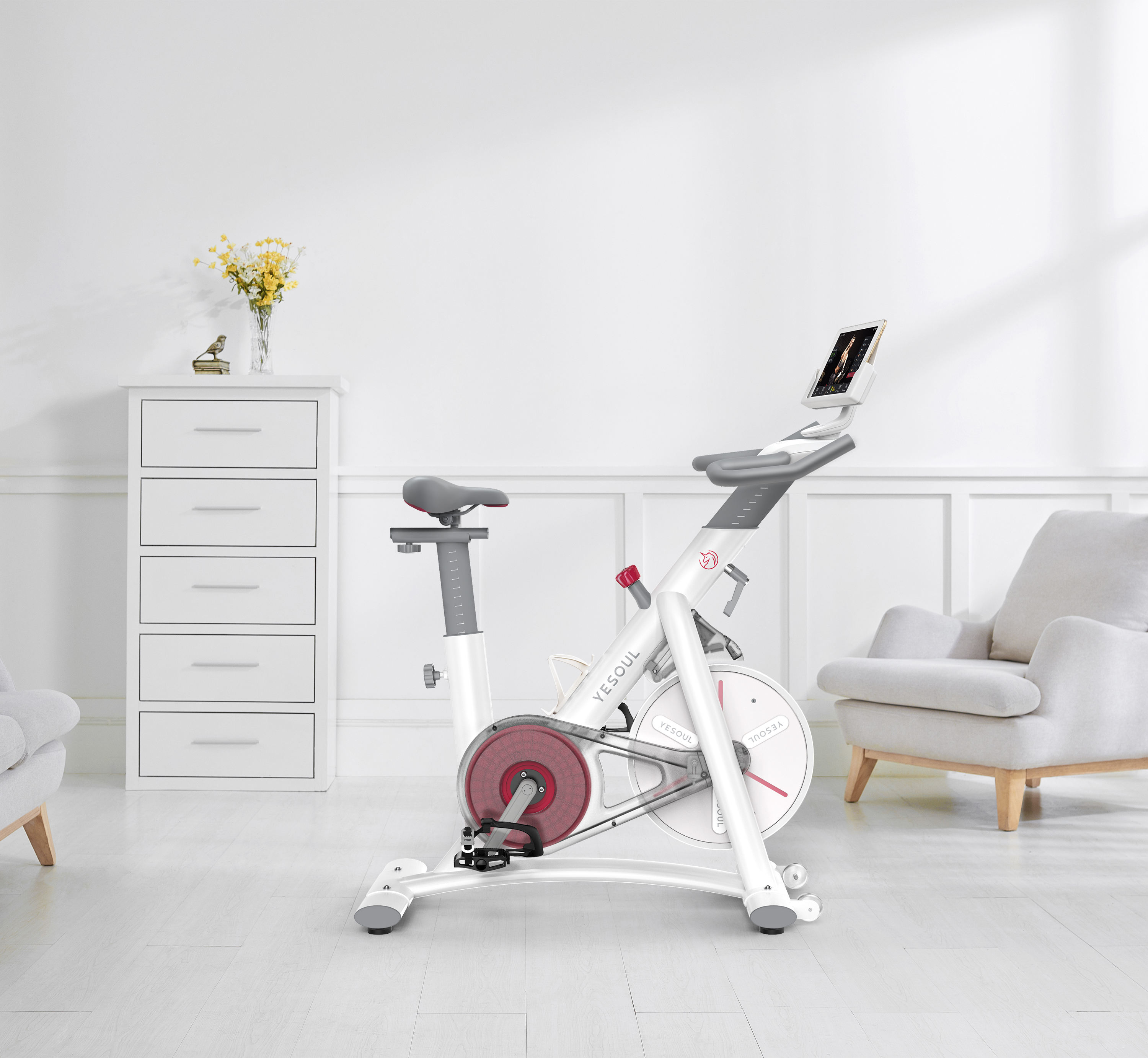 EU in stock YESOUL S3 woman home spinning bike ultra-quiet Indoor exercise health fitness equipment weight loss gym running bike