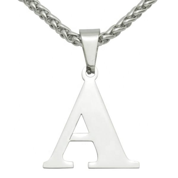 Stylish Custom Bling Iced Out Litte Girl Alphabet Charm Name Women Jewelry Stainless Steel A-Z Letter Pendant Initial Necklace