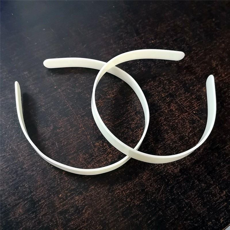 Factory wholesale custom 14MM flat hair hoop designer hair care accessories ABS plastic hair hoop