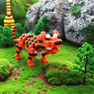 YIRUN animal model plastic blocks building toy top seller funny legoinglys bricks toys for kids