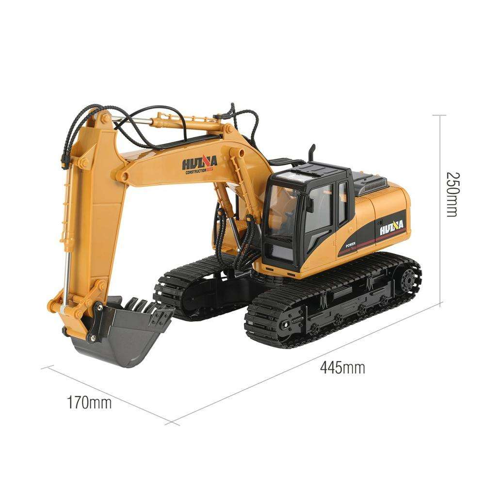 1/14 Scale 15 Channel Rc Car Huina 1550 Remote Control Excavator 1/14 1:14 Alloy Diecast Digger Construction Model Truck Rc