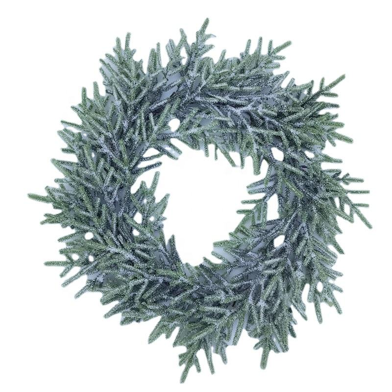 Excellent quality hot selling christmas wreath no lights plain christmas wreath decorations