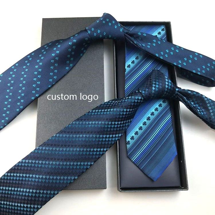 China Manufacturer Custom Necktie With Logo And Box Packaging Tie