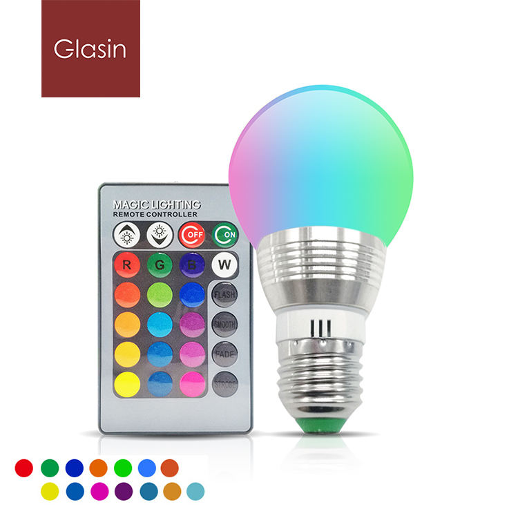 5W Rgb Led Lamp Licht Met Ir Afstandsbediening 16 Color Change Lamp