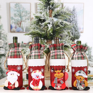 Christmas Decoration Creative Wine double draw rope Bottle Cover Set Champagne Bottle Cover Set