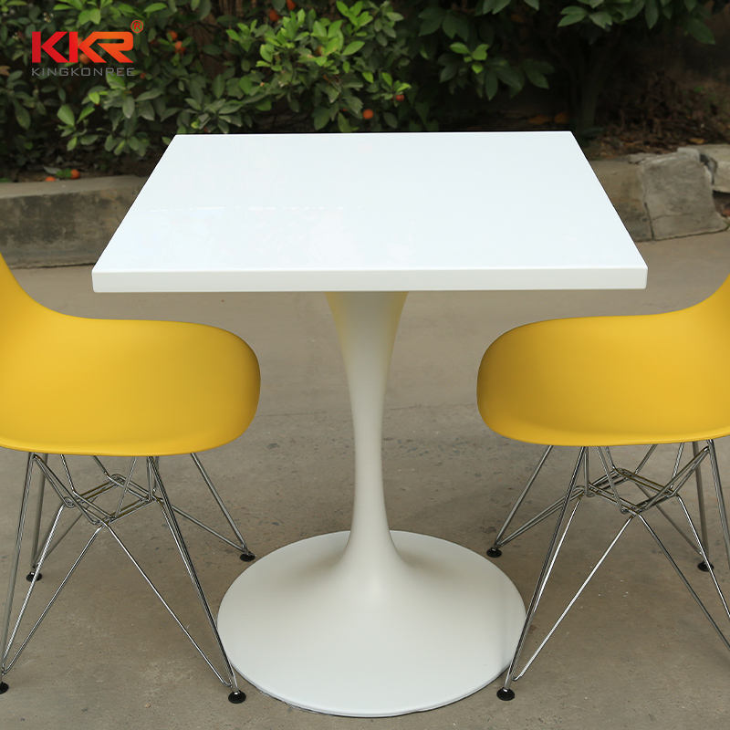 restaurant tables chairs white acrylic solid surface dining tables