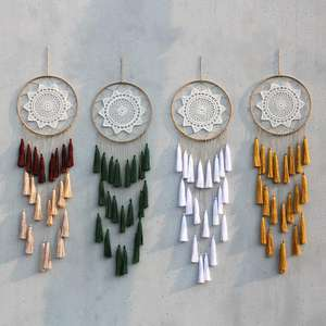Artilady DreamCatcher wedding decoration gift Room Decoration Handmade Large Dream Catcher for friend