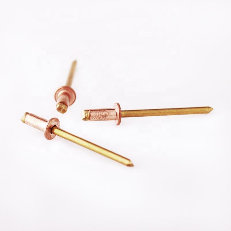 PROFESSIONAL CUSTOM DIN 7337 OPEN END COPPER DOMED HEAD POP BLIND RIVETS