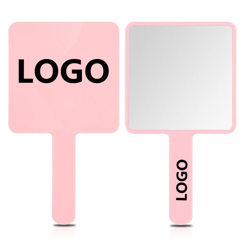 Square Plastic Cosmetic Handheld Mirror Customized Private Pocket Hand Held Mirror for Makeup