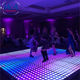 Waterproof digital dance floor magnetic connect for night club