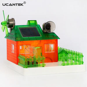 DIY Funny Educational Asssembled Miniature Solar Music House Green Energy Experiments Building Model Kits