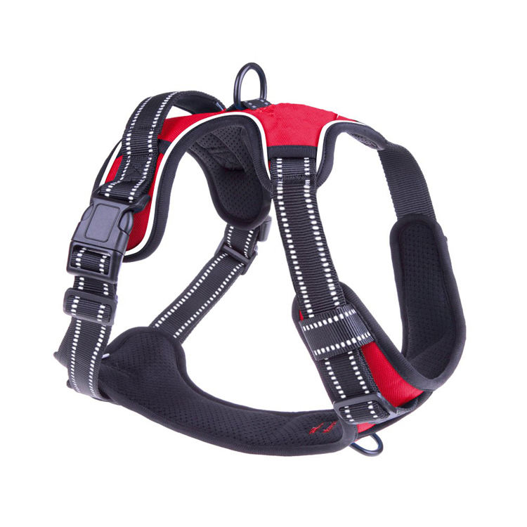 Free Sample Customized Dog Harness No Pull Reflective Comfortable Harness with Handle Fully Adjustable dog harness