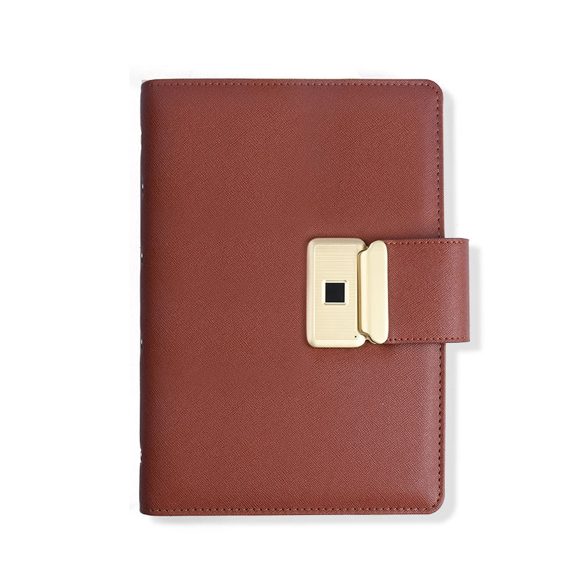 Multi-function fingerprint lock notebook business high-grade security notebook with fingerprint lock