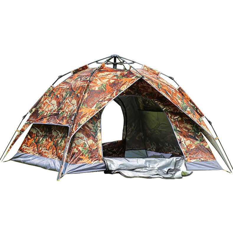 2-3 Person Automatic Camping Outdoor Portable Hiking Glamping Trekking Waterproof Camouflage Tent Sale 4 Season
