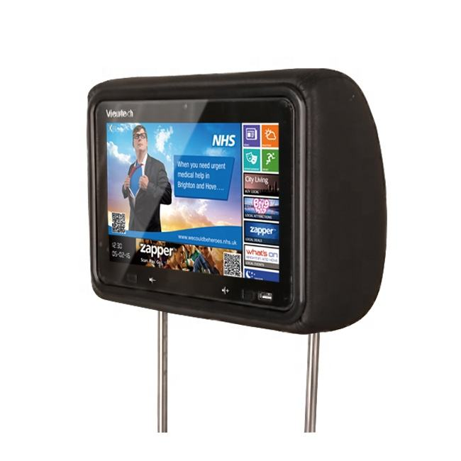 Android 8.1 10.1 inch headrest taxi advertising player with WIFI, 4G, GPS taxi lcd advertising screen