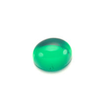 price per carat flat bottom cabochon synthetic  Gemstone 9*7 oval   from colombia emerald loose