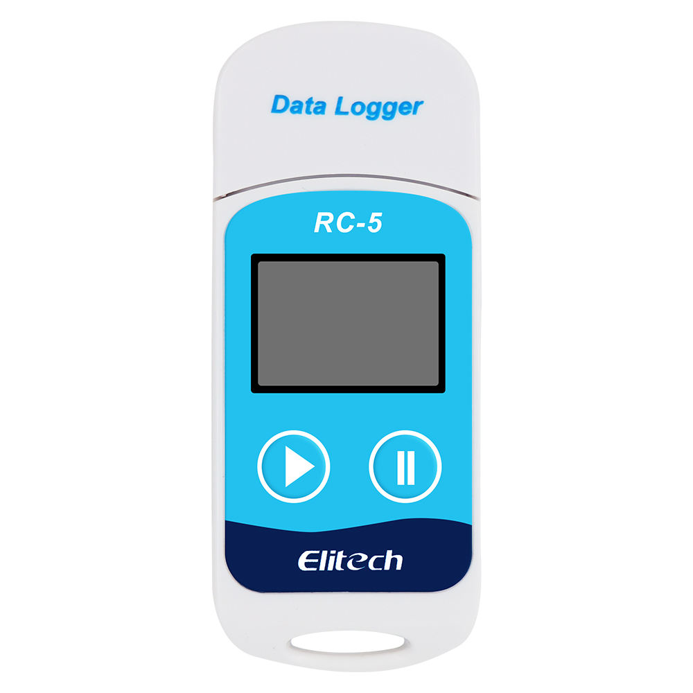 Gravador Digital USB Data Logger Temperatura Elitech RC-5 IP67 RC-5 Gravador com Display LCD de Alta Precisão