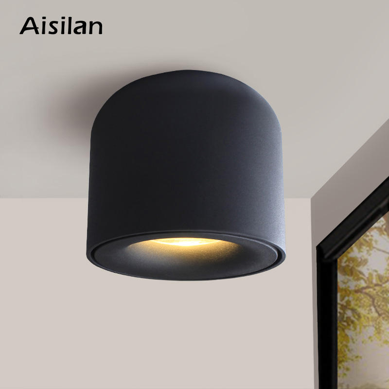 Aisilan MTD128 Simple Downlight housing light for corridor bathroom dimmable Spot Light COB Surface LED Downlight