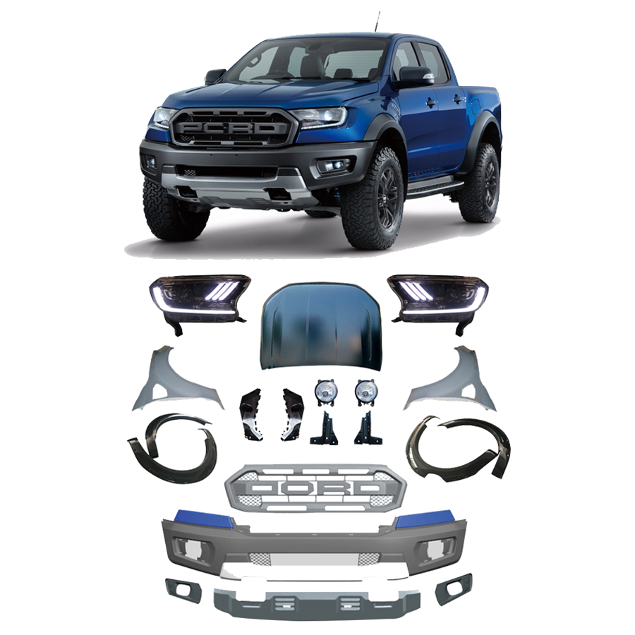 T6 Convension Kit Raptor style with LED Headlight Car Accessories Conversion Body Kit For Ranger T6 2012-2016