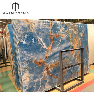 custom natural onyx marble background wall design blue onyx tile