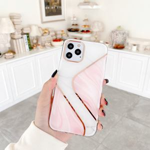 For iPhone 11 Case IMD Marble TPU Phone Cover for iPhone 12 pro max