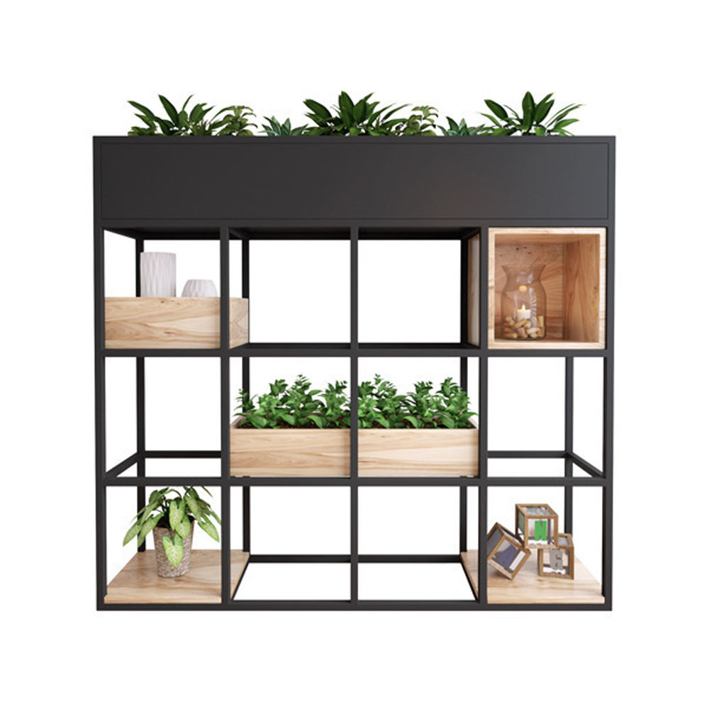 2019 Modern Style Flower wooden metal Plant Stand shelf for Outdoor or Indoor plant shelf