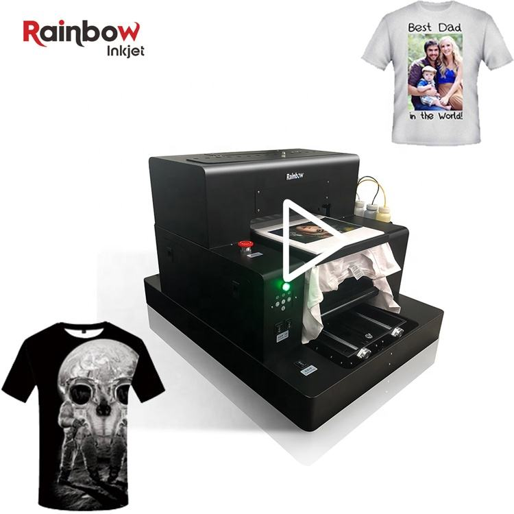 Vivid effect dtg garment digital flatbed t-shirt printer with L1800