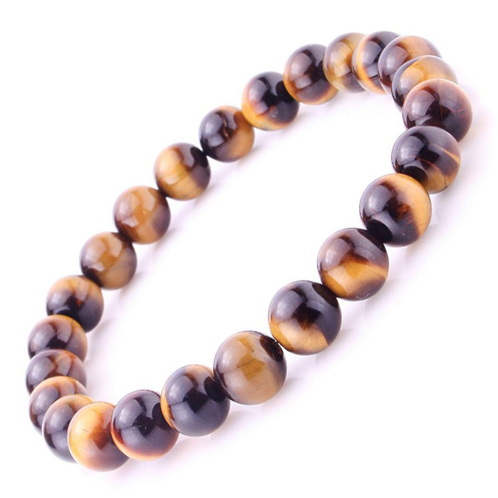 Wholesale High Quality Natural tiger eye Crystal Necklace Bracelet Lucky Feng Shui Jewelry