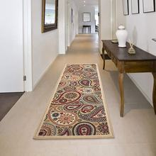 JACKSON Beige Modern Runner Rug with Non-Skid (Non-Slip) Rubber Backing