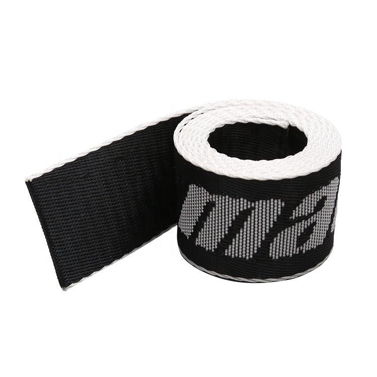 POLYPROPYLENE STRAP WEBBING 10mm Black+Two White Lines
