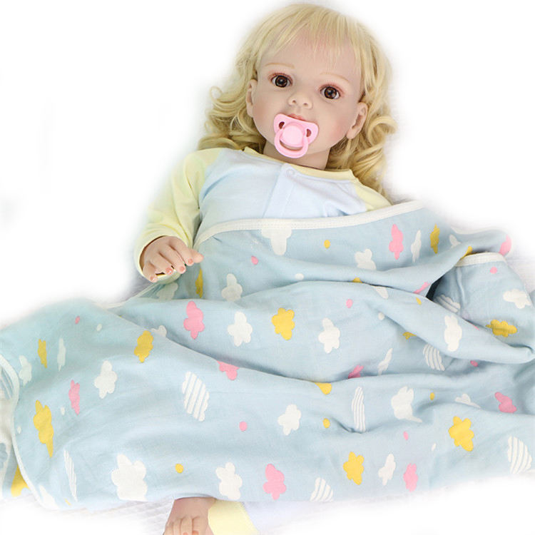 Protect the head and prevent cold cotton baby muslin swaddle blanket hooded quilt baby bath towel