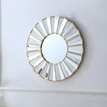 Luxury Decorative Home Furniture Gold Frame Round Wall Mirror Multi-Face Decorative Mirror For Home Hotel Shop