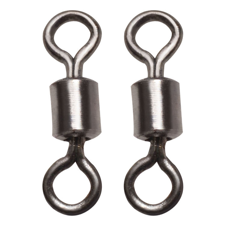 Wholesale 100pcs/Bag Metal Swivel Fishing Accessories Connector Fishing Tackle Fishing Swivel