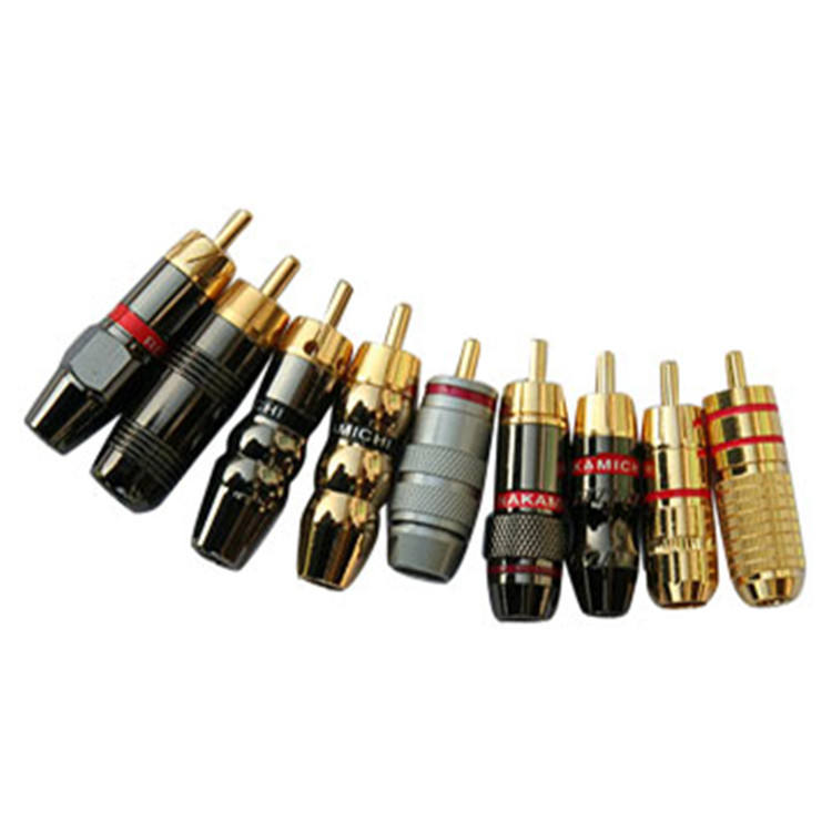 hot sale 2.5/3.5/6.35 RCA gold plug