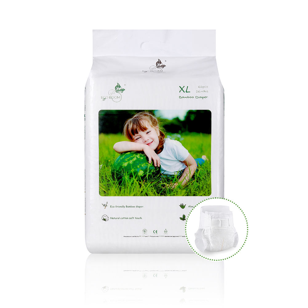 Breathable organic biodegradable bamboo disposable diaper for adult