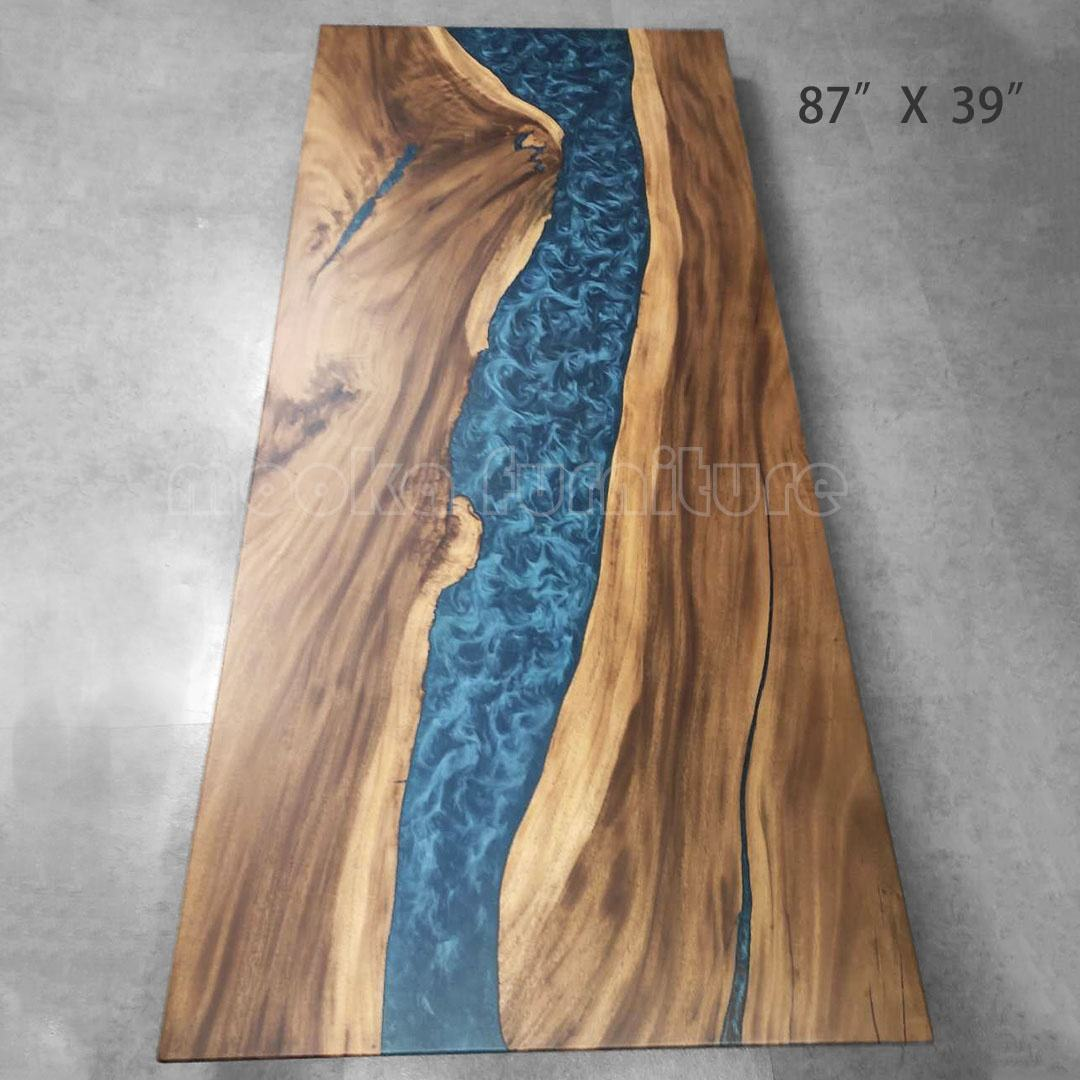 Factory price modern design resin wood table tops cheap epoxy table