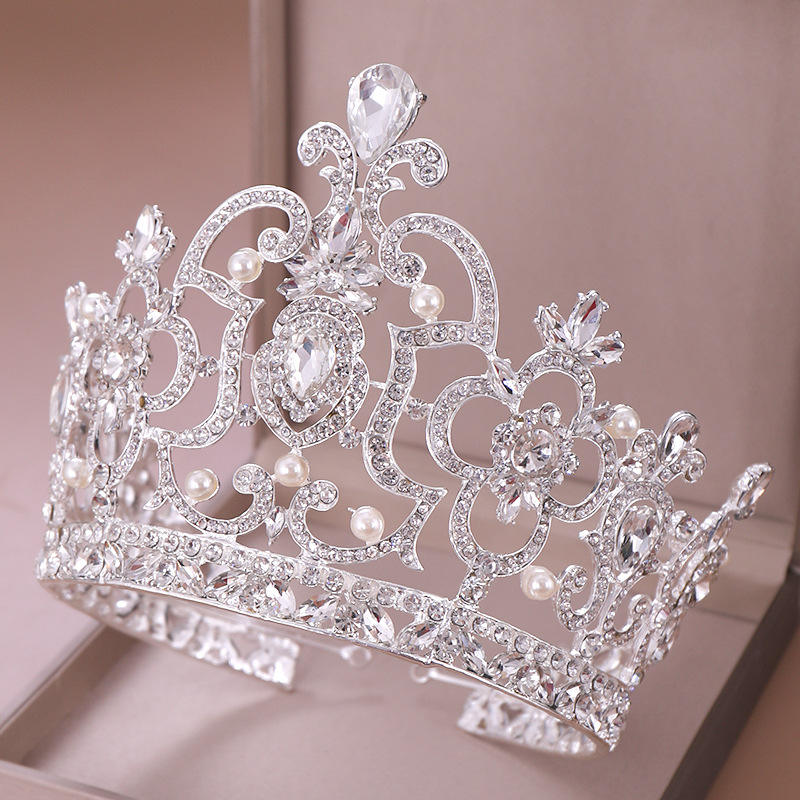 BRAND NEW T63 BEAUTIFUL PINK RHINESTONE  CRYSTAL TIARA//COMB
