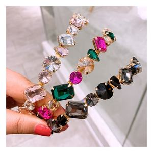 Wholesale newest 2020 luxury crystal headband full bulk rhinestone headband bling headband for women