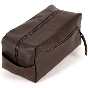 leather Toiletry Bag for men , Shaving and Grooming Kit bag for Travel, Bathroom Cosmetic Pouch Case