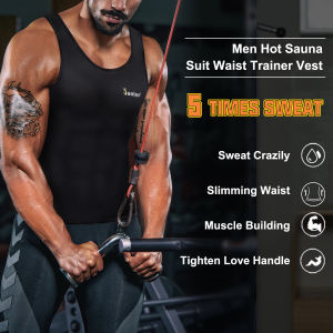 Men Workout Shapewear Hot Sweat Sauna Vest Body Shaper Slimming Tank Top Weight Loss Waist Trainer