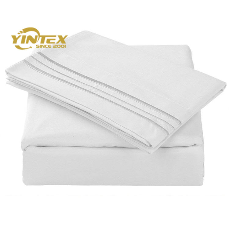 1800 Luxe Literie Collection 100% Microfibre Ensemble de Draps En Tissu