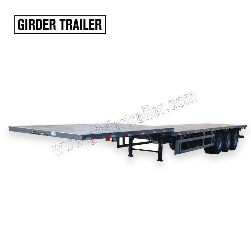 Flatbed manufacturer best 3 axle 40 foot 48 ft steel gooseneck step deck cargo lowboy semi flatbed truck trailer for sale