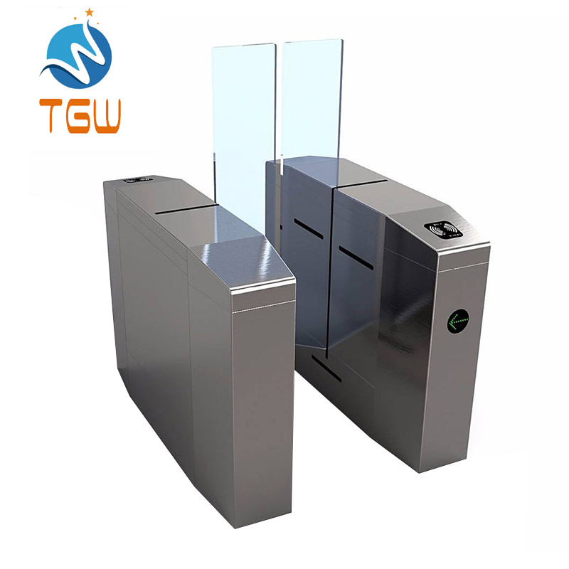 Optical Sliding Turnstile By Swiping Card RFID Intelligent Collector for Door Entry Pass System Automatic Gate Opener Sliding