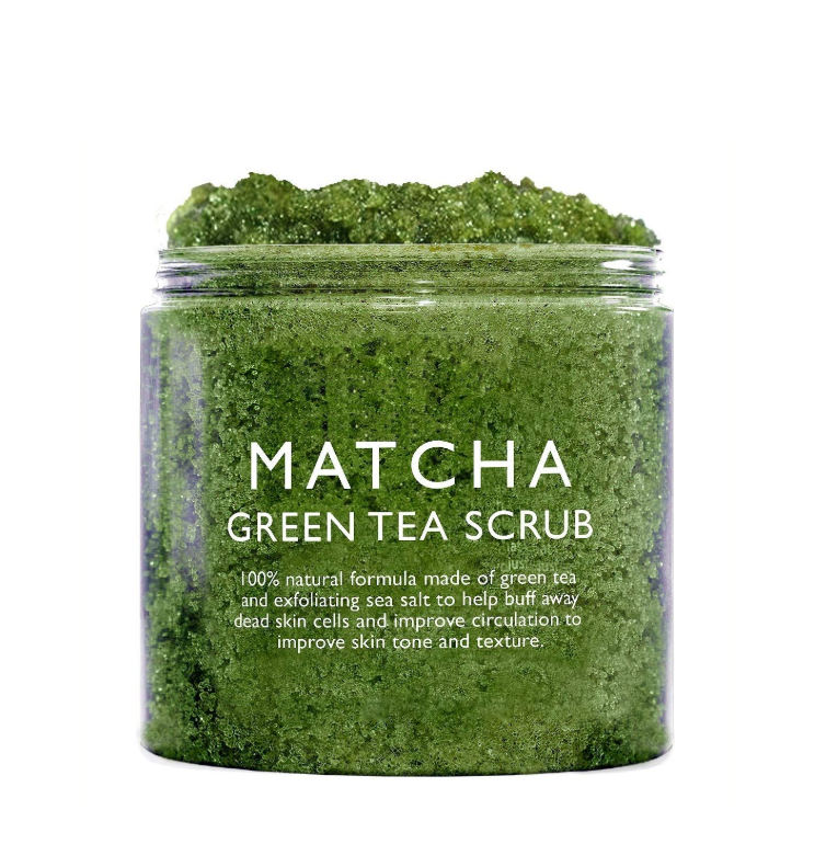 Natural Matcha Body Scrub Face Scrub Green Tea Deep Cleansing exfoliator scrub