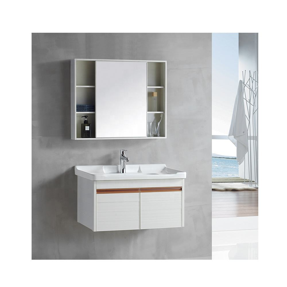 Modern promotion aluminum wall mounted bathroom mirror vanity