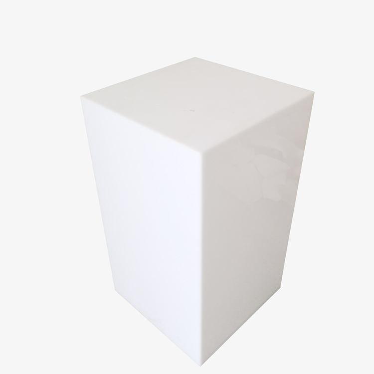 Square Wedding Display LED White Acrylic Plinth Stands Pedestal