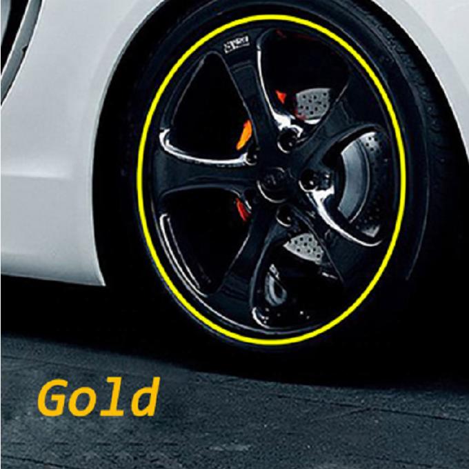 Hot 8M Pro Wheel Rim Protector Roll New Styling Decal Car Wheel Hub Edge Rim US