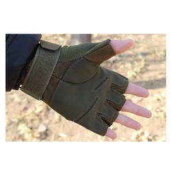 Fashion Single Layer Military Tactical Fingerless Shock Resistant Tactical Gloves